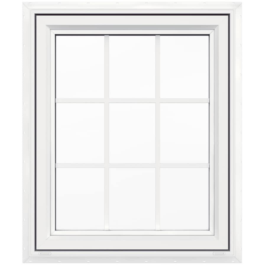 Shop jeld wen v4500 1 lite vinyl double pane double for Double casement windows