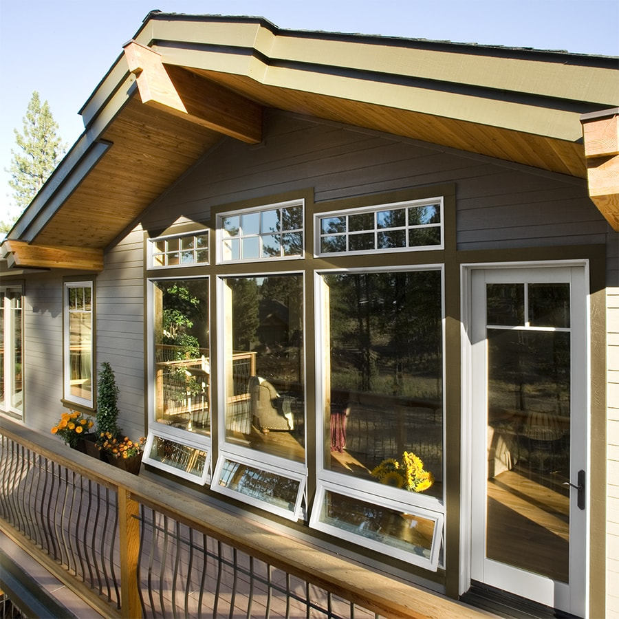 JELD-WEN V4500 Single Vinyl Double Pane Strength Awning Window (Rough Opening: 48-in x 24-in; Actual: 47.5-in x 23.5-in)