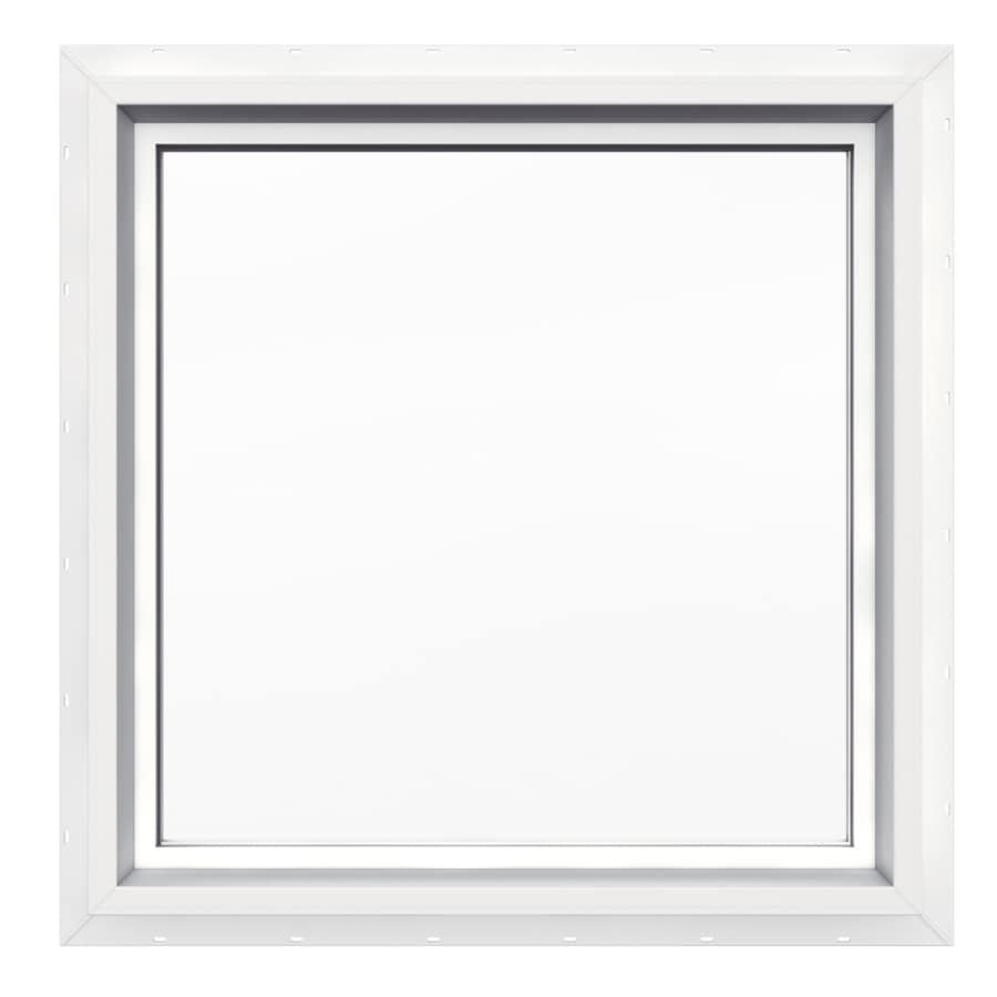 JELD-WEN 24-in x 24-in V4500 Double Pane Double Strength Square New Construction Window