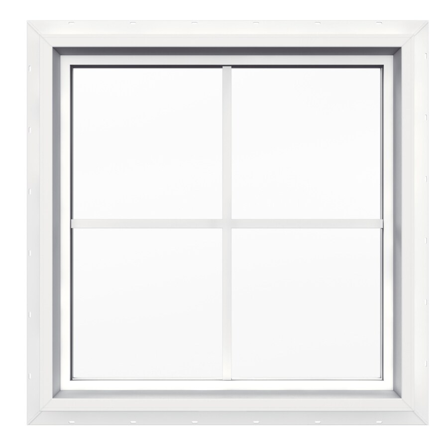 Shop jeld wen 24 in x 24 in v4500 double pane double for Glass windows