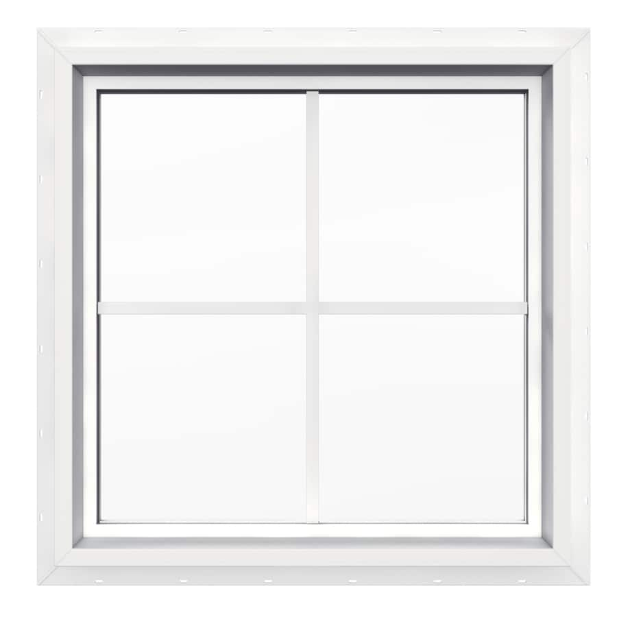 Shop jeld wen 24 in x 24 in v4500 double pane double for New construction windows reviews