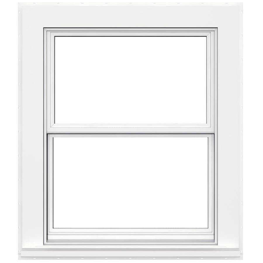 JELD-WEN V4500 Vinyl Double Pane Double Strength Double Hung Window (Rough Opening: 32-in x 38-in; Actual: 31.5-in x 37.5-in)