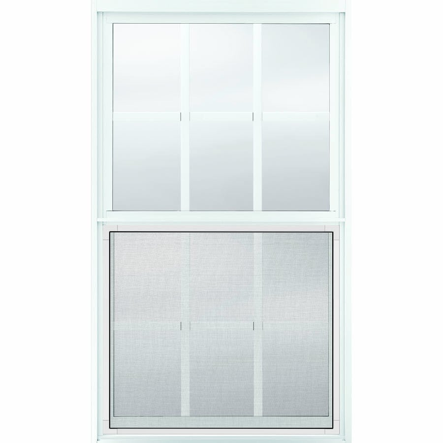 JELD-WEN Builders Aluminum Aluminum Single Pane Annealed Single Hung Window (Rough Opening: 36.5-in x 62.25-in; Actual: 36-in x 62-in)
