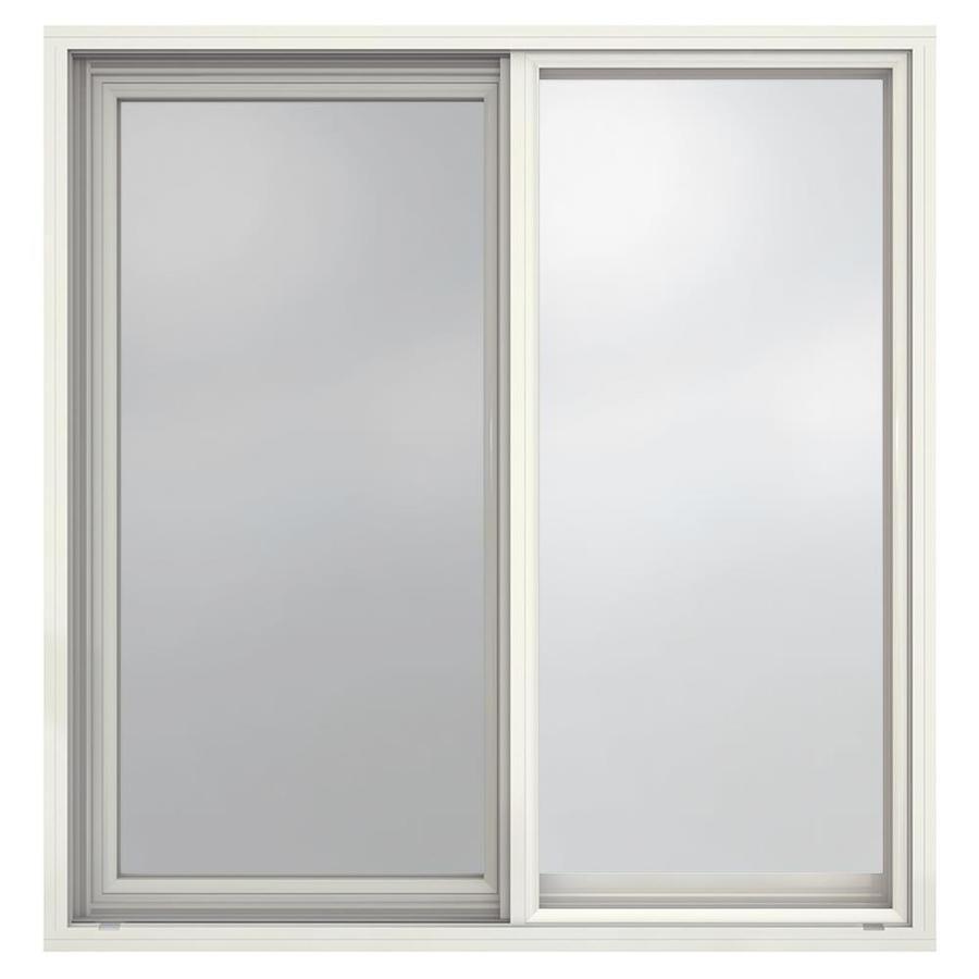 JELD-WEN Builders Aluminum Left-Operable Aluminum Single Pane Annealed New Construction Sliding Window (Rough Opening: 36.5-in x 37.625-in; Actual: 36-in x 37.375-in)