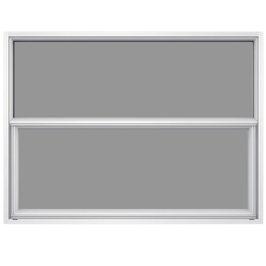 JELD-WEN Premium Atlantic Aluminum Aluminum Single Pane Impact Single Hung Window (Rough Opening: 52.625-in x 37.625-in; Actual: 52.125-in x 37.375-in)