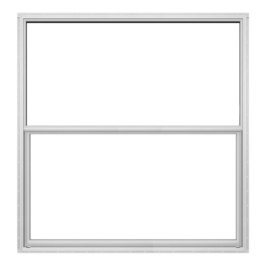 JELD-WEN Builders Florida Aluminum Aluminum Double Pane Double Strength Single Hung Window (Rough Opening: 36.5-in x 37.875-in; Actual: 36-in x 37.375-in)