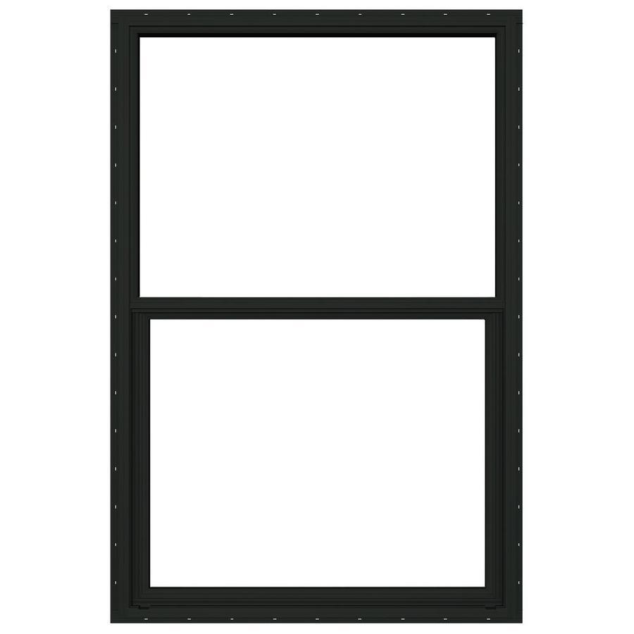 JELD-WEN Builders Florida Aluminum Aluminum Double Pane Double Strength Single Hung Window (Rough Opening: 36.5-in x 50.125-in; Actual: 36-in x 49.625-in)