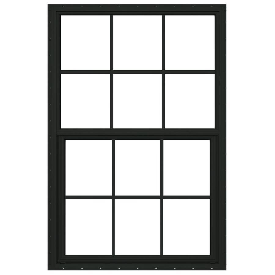 JELD-WEN Builders Florida Aluminum Aluminum Double Pane Double Strength Single Hung Window (Rough Opening: 32-in x 60-in; Actual: 31.5-in x 59.5-in)