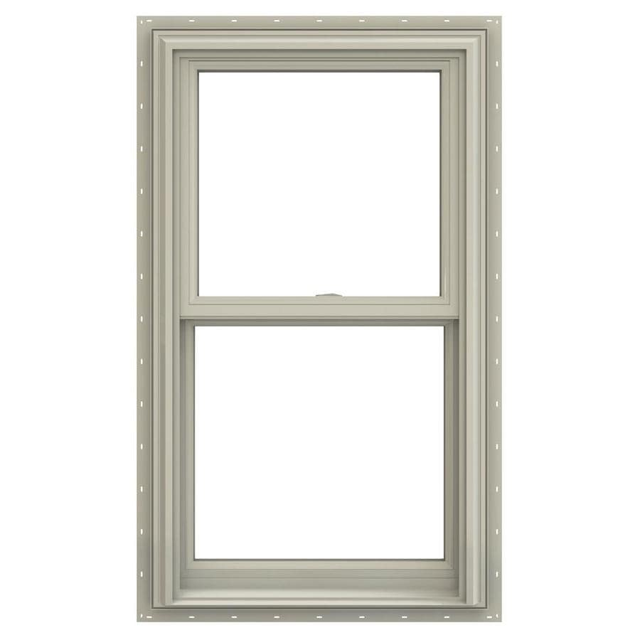 JELD-WEN V-2500 Vinyl Double Pane Annealed Double Hung Window (Rough Opening: 28-in x 54-in; Actual: 27.5-in x 53.5-in)