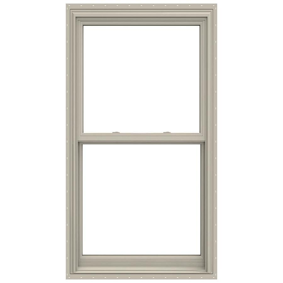JELD-WEN V-2500 Vinyl Double Pane Annealed Double Hung Window (Rough Opening: 32-in x 60-in; Actual: 31.5-in x 59.5-in)
