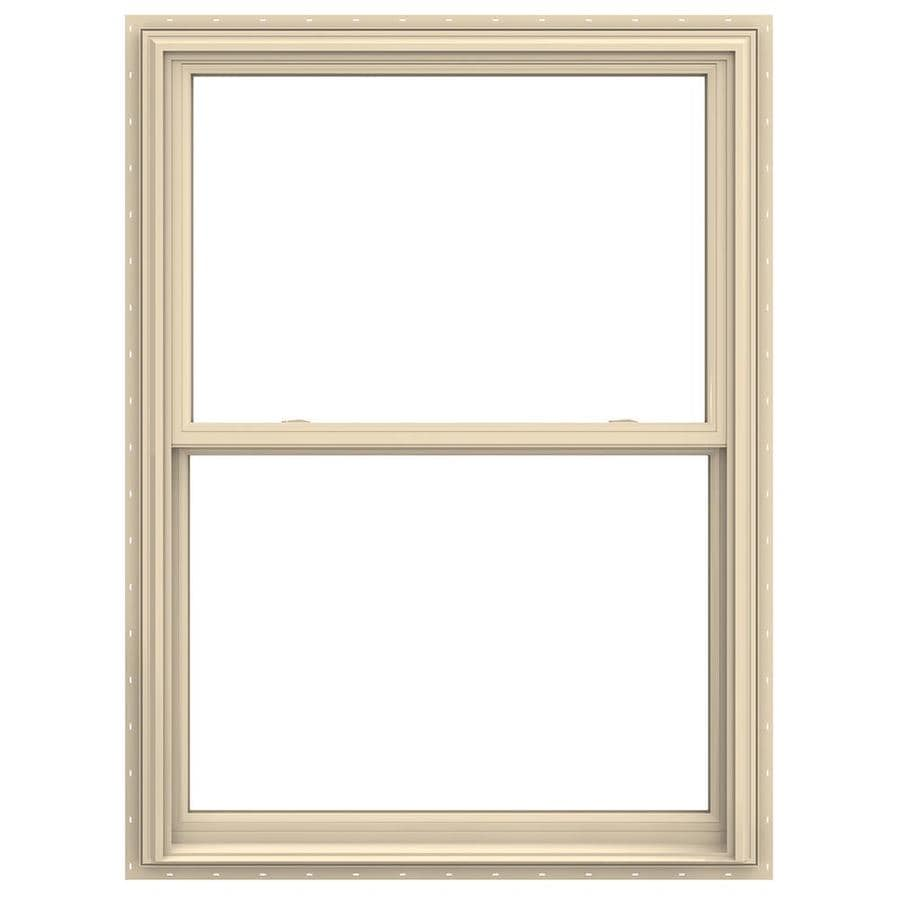 JELD-WEN V-2500 Vinyl Double Pane Annealed Double Hung Window (Rough Opening: 36-in x 60-in; Actual: 35.5-in x 59.5-in)