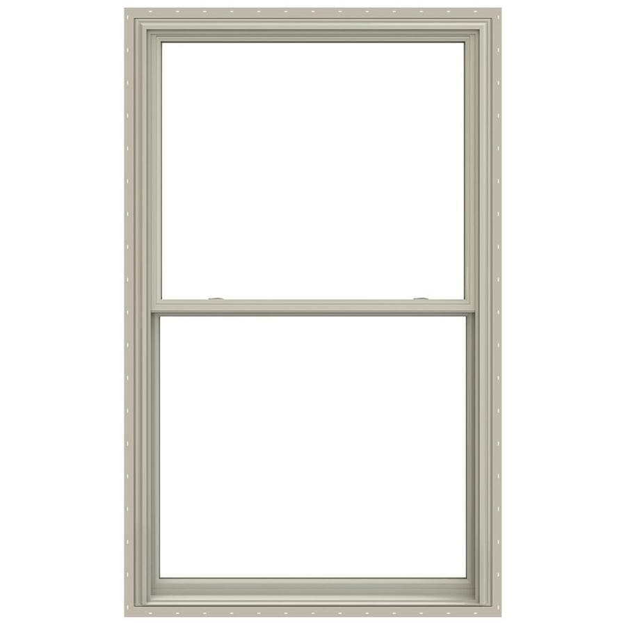 JELD-WEN V-2500 Vinyl Double Pane Annealed Double Hung Window (Rough Opening: 36-in x 72-in; Actual: 35.5-in x 71.5-in)