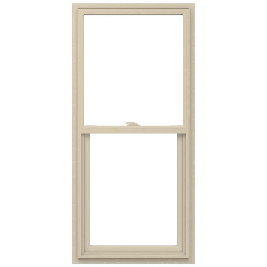 JELD-WEN V-2500 Vinyl Double Pane Annealed Single Hung Window (Rough Opening: 24-in x 48-in; Actual: 23.5-in x 47.5-in)
