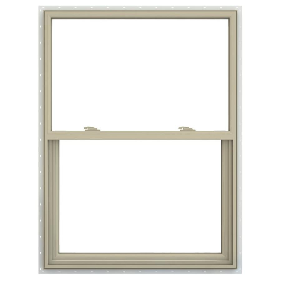 JELD-WEN V-2500 Vinyl Double Pane Annealed Single Hung Window (Rough Opening: 36-in x 48-in; Actual: 35.5-in x 47.5-in)
