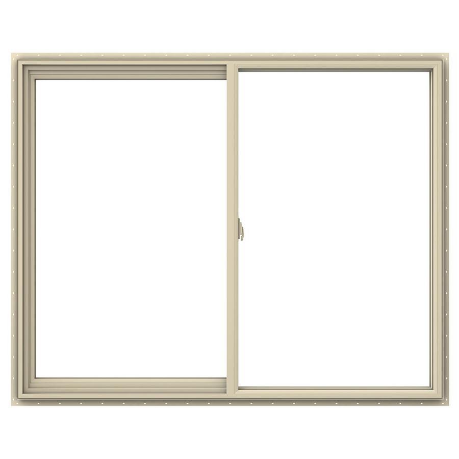 JELD-WEN V-2500 Left-Operable Vinyl Double Pane Annealed Sliding Window (Rough Opening: 60-in x 48-in; Actual: 59.5-in x 47.5-in)