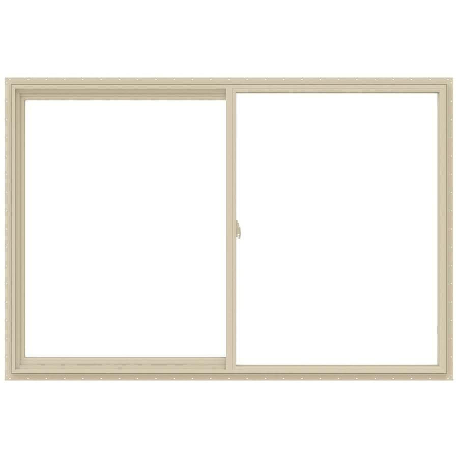 JELD-WEN V-2500 Left-Operable Vinyl Double Pane Annealed Sliding Window (Rough Opening: 72-in x 48-in; Actual: 71.5-in x 47.5-in)