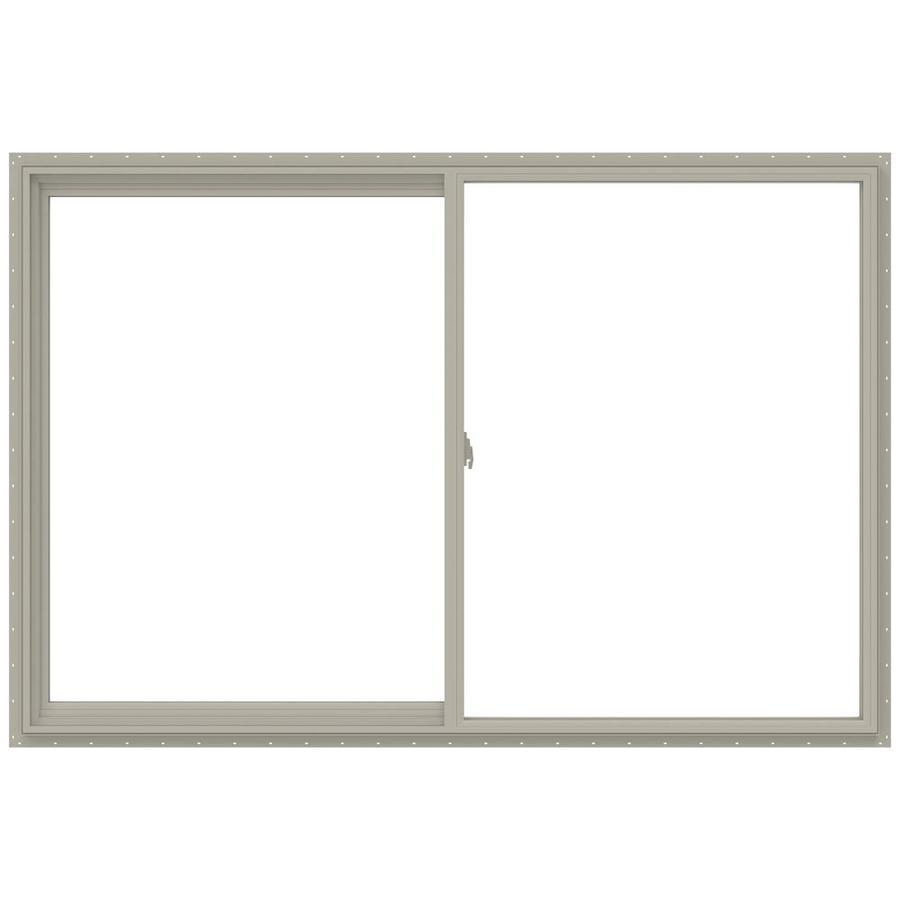 JELD-WEN V-2500 Left-Operable Vinyl Double Pane Annealed Sliding Window (Rough Opening: 72-in x 48-in; Actual: 71.5-in x 47.5-in)