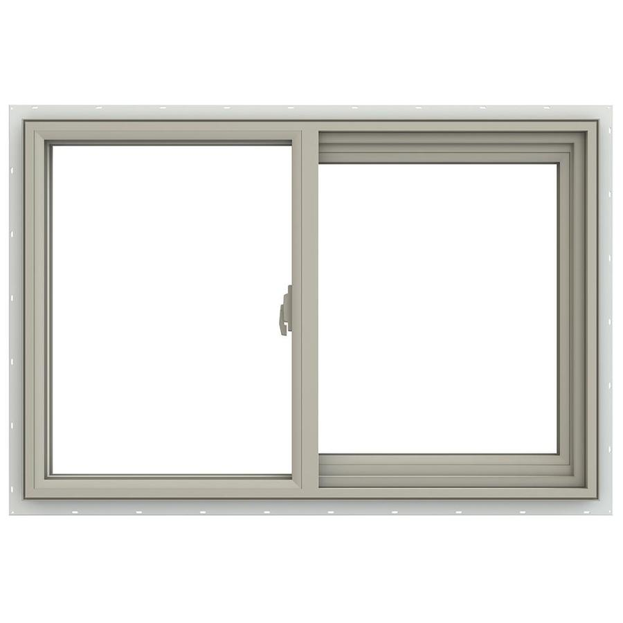 JELD-WEN V-2500 Right-Operable Vinyl Double Pane Annealed Sliding Window (Rough Opening: 36-in x 24-in; Actual: 35.5-in x 23.5-in)