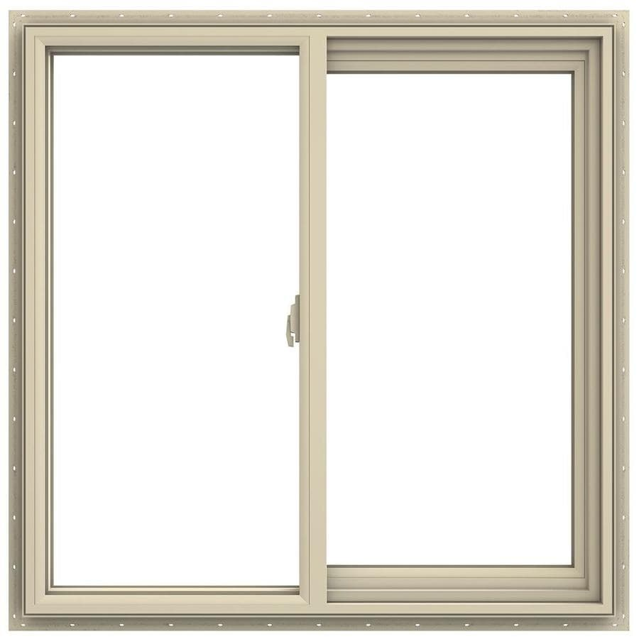 JELD-WEN V-2500 Right-Operable Vinyl Double Pane Annealed Sliding Window (Rough Opening: 36-in x 36-in; Actual: 35.5-in x 35.5-in)