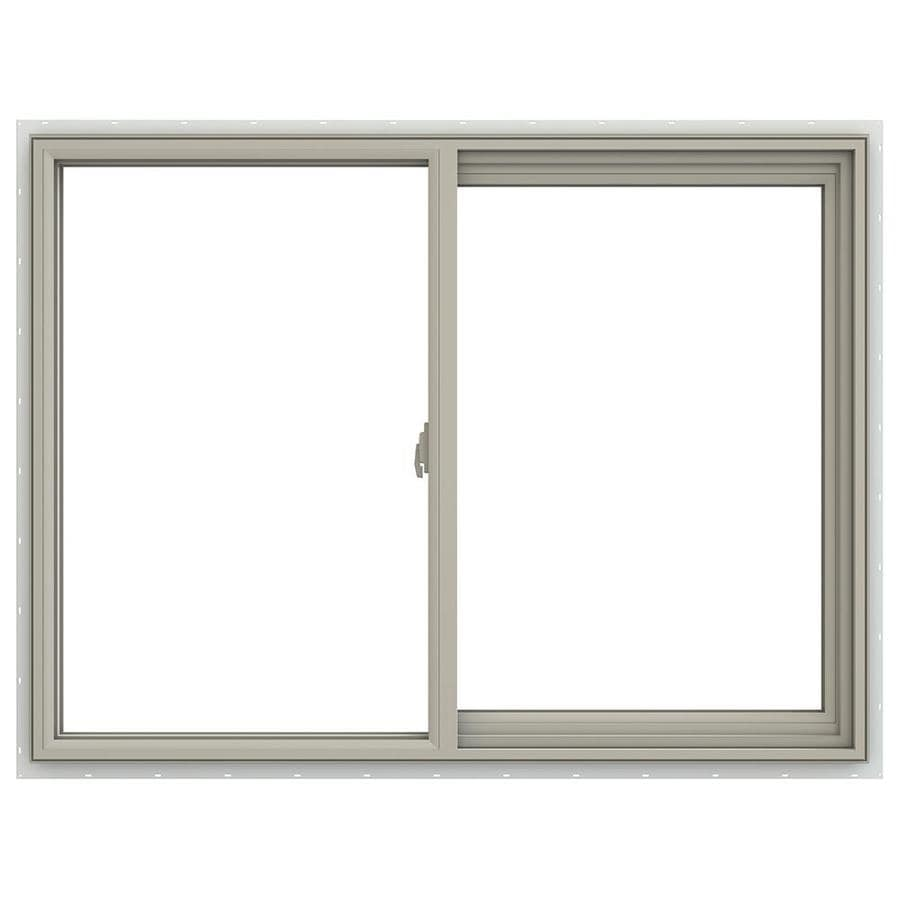 JELD-WEN V-2500 Right-Operable Vinyl Double Pane Annealed Sliding Window (Rough Opening: 48-in x 36-in; Actual: 47.5-in x 35.5-in)