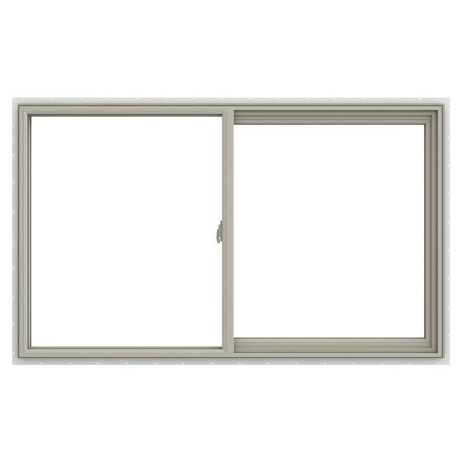 JELD-WEN V-2500 Right-Operable Vinyl Double Pane Annealed Sliding Window (Rough Opening: 60-in x 36-in; Actual: 59.5-in x 35.5-in)
