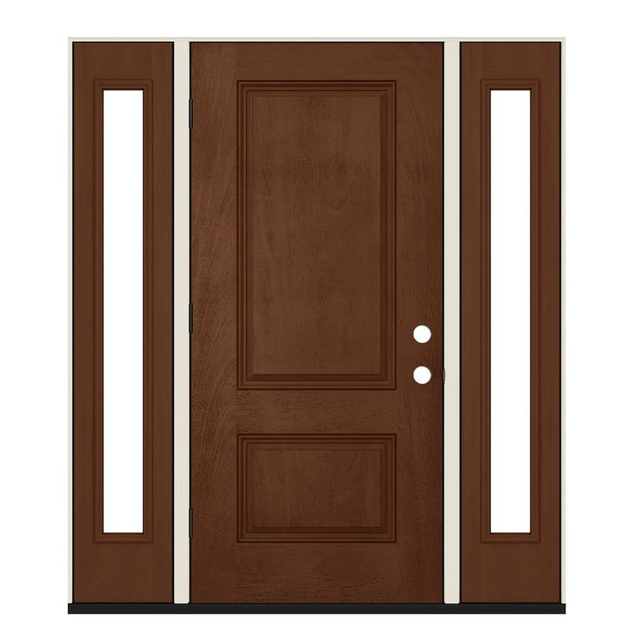 Jeld Wen 60 In X 80 In Fiberglass Right Hand Outswing Milk Chocolate Stained Prehung Single Front Door In The Front Doors Department At Lowes Com All of coupon codes are verified and tested today! lowe s