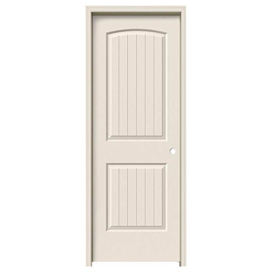 ReliaBilt Prehung Hollow Core 2-Panel Round Top Plank Interior Door (Common: 32-in x 80-in; Actual: 33.5-in x 81.5-in)