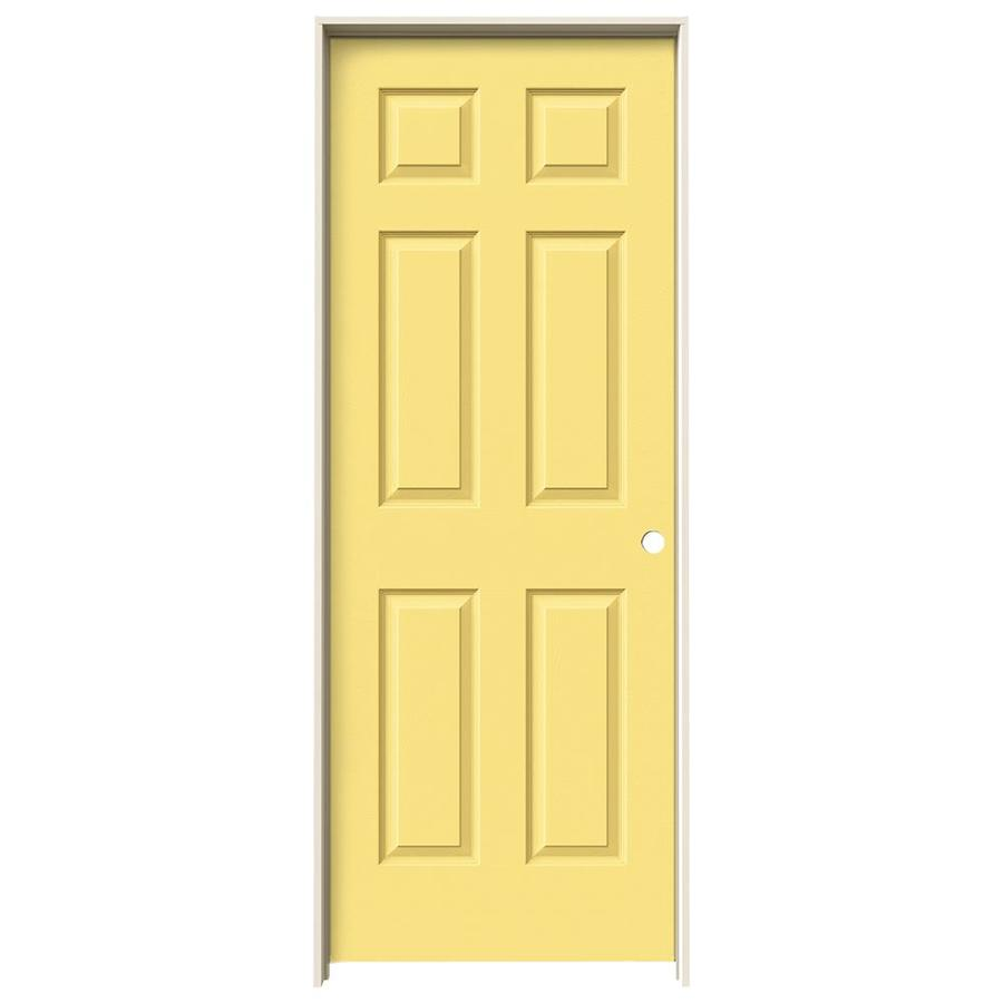 JELD-WEN Marigold Prehung Solid Core 6-Panel Interior Door (Actual: 81.688-in x 31.562-in)