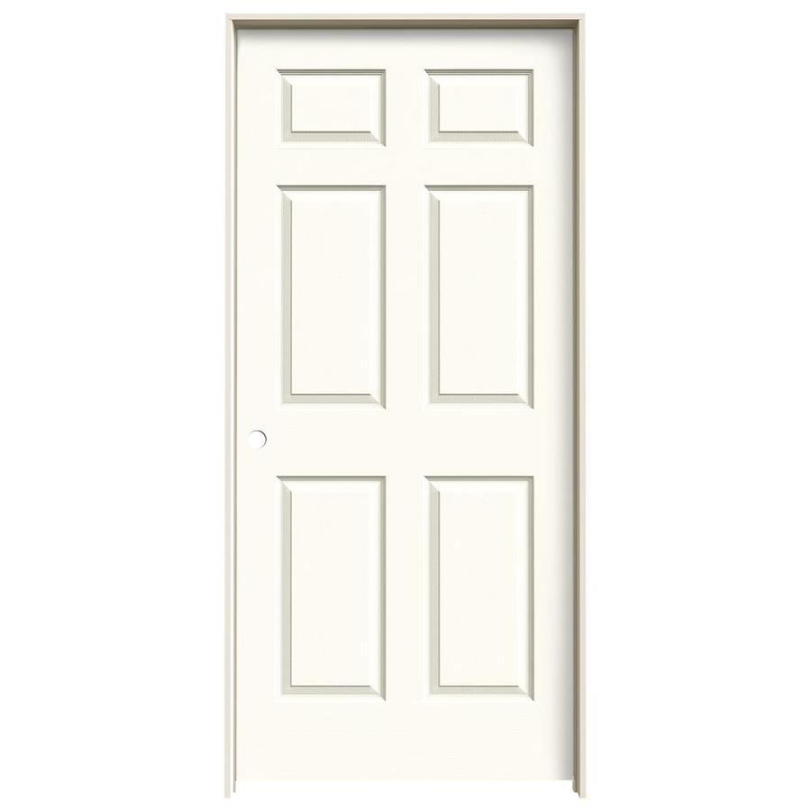 JELD-WEN White Prehung Hollow Core 6-Panel Interior Door (Actual: 81.688-in x 37.562-in)