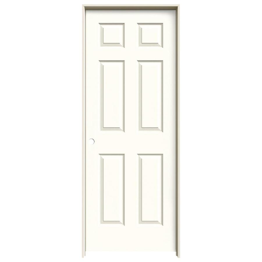 JELD-WEN Moonglow Prehung Hollow Core 6-Panel Interior Door (Actual: 81.688-in x 31.562-in)