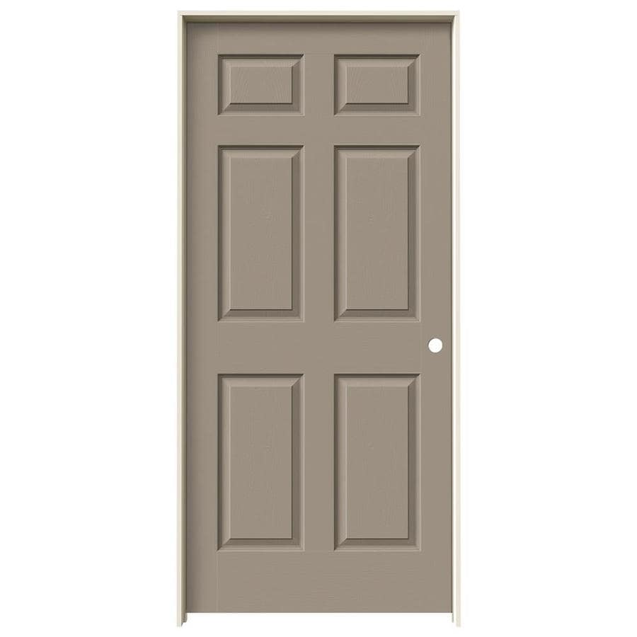 JELD-WEN Sand Piper Prehung Hollow Core 6-Panel Interior Door (Actual: 81.688-in x 37.562-in)