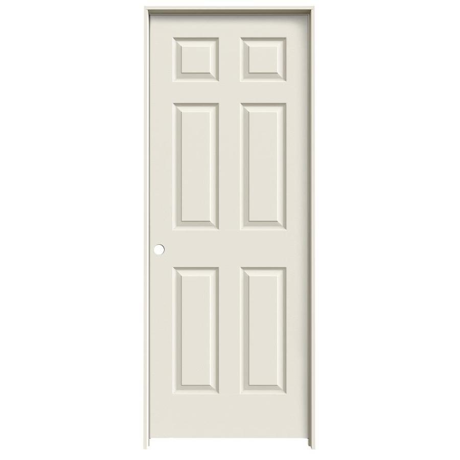 JELD-WEN Prehung Hollow Core 6-Panel Interior Door (Common: 32-in x 80-in; Actual: 33.562-in x 81.688-in)