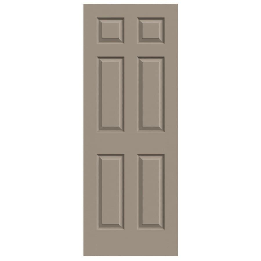 JELD-WEN Sand Piper Solid Core 6-Panel Slab Interior Door (Common: 30-in x 80-in; Actual: 30-in x 80-in)