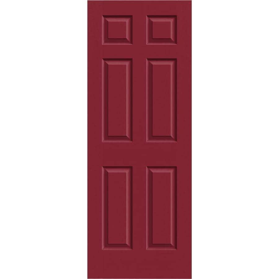 JELD-WEN Barn Red Solid Core 6-Panel Slab Interior Door (Common: 32-in x 80-in; Actual: 32-in x 80-in)