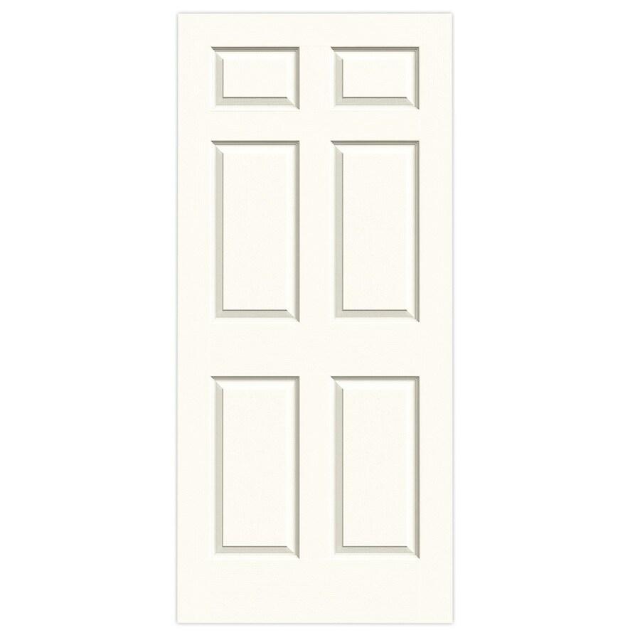 JELD-WEN White Hollow Core 6-Panel Slab Interior Door (Common: 36-in x 80-in; Actual: 36-in x 80-in)