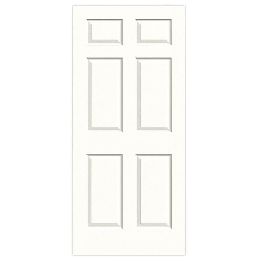 JELD-WEN Snow Storm Hollow Core 6-Panel Slab Interior Door (Common: 36-in x 80-in; Actual: 36-in x 80-in)