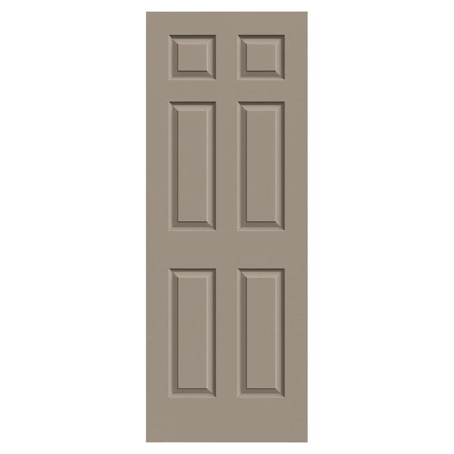 JELD-WEN Sand Piper Hollow Core 6-Panel Slab Interior Door (Common: 32-in x 80-in; Actual: 32-in x 80-in)