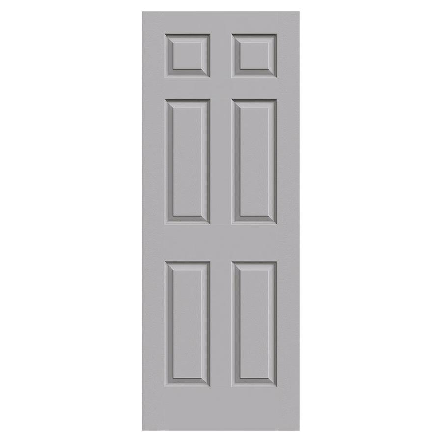 JELD-WEN Driftwood Hollow Core 6-Panel Slab Interior Door (Common: 30-in x 80-in; Actual: 30-in x 80-in)