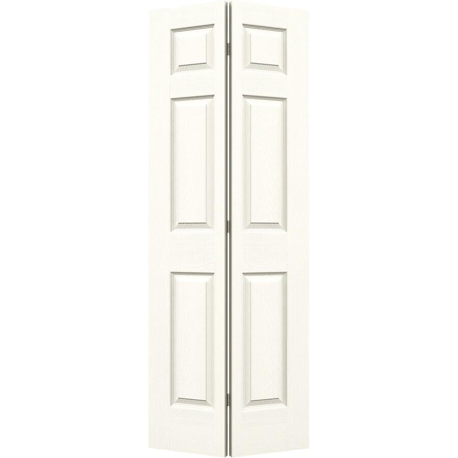 JELD-WEN White Hollow Core 6-Panel Bi-Fold Closet Interior Door (Common: 28-in x 80-in; Actual: 27.5-in x 79-in)