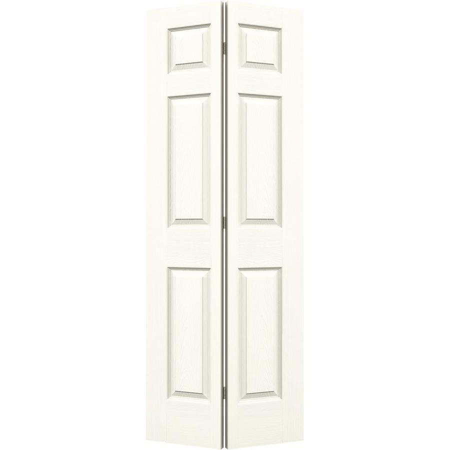 JELD-WEN White Hollow Core 6-Panel Bi-Fold Closet Interior Door (Common: 30-in x 80-in; Actual: 29.5-in x 79-in)