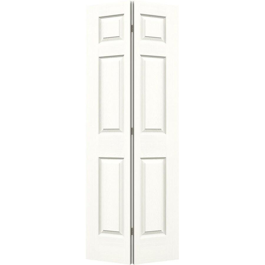 JELD-WEN Snow Storm Hollow Core 6-Panel Bi-Fold Closet Interior Door (Common: 30-in x 80-in; Actual: 29.5-in x 79-in)