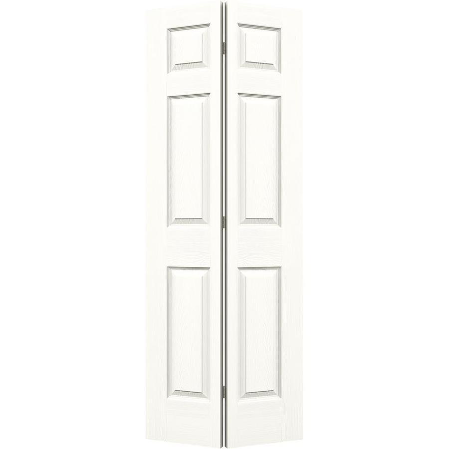 JELD-WEN Snow Storm Hollow Core 6-Panel Bi-Fold Closet Interior Door (Common: 36-in x 80-in; Actual: 35.5-in x 79-in)