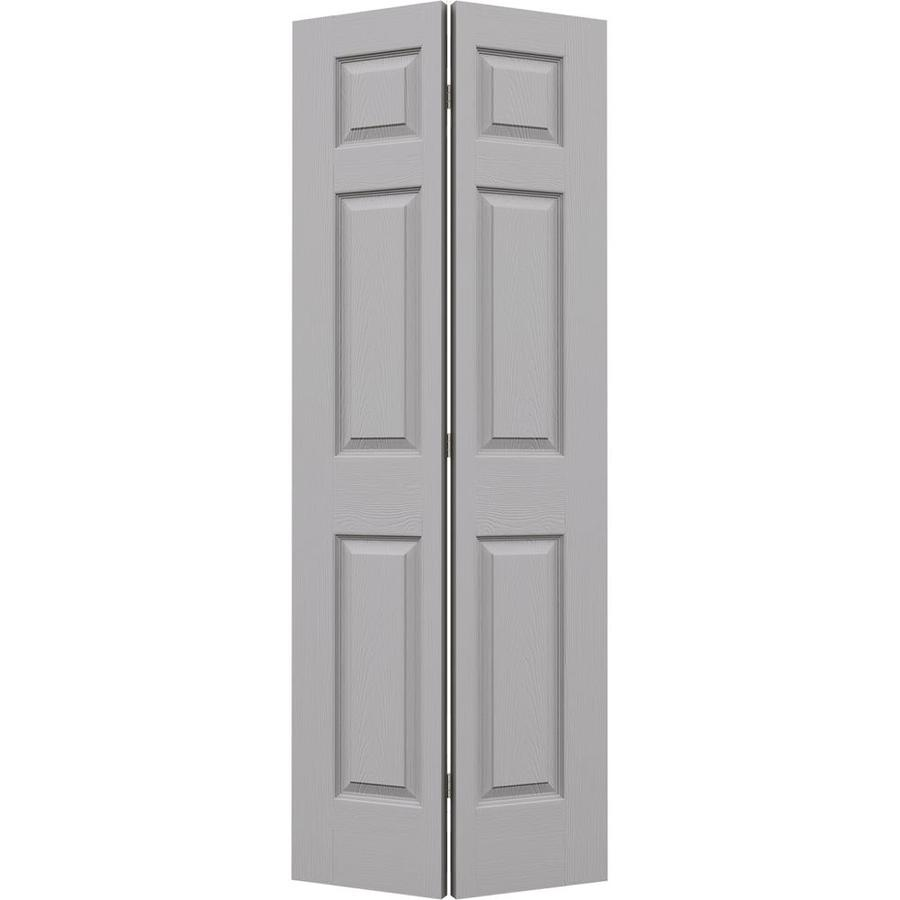 JELD-WEN Driftwood Hollow Core 6-Panel Bi-Fold Closet Interior Door (Common: 32-in x 80-in; Actual: 31.5-in x 79-in)