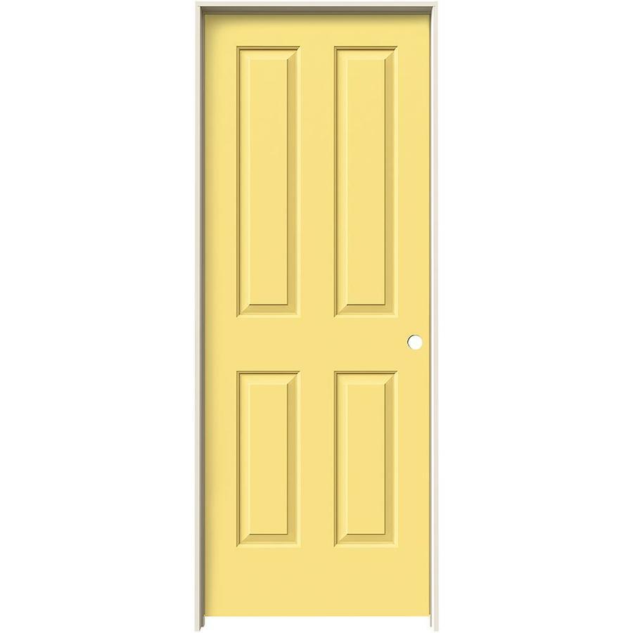 JELD-WEN Marigold Prehung Hollow Core 4 Panel Square Interior Door (Common: 24-in x 80-in; Actual: 25.562-in x 81.688-in)