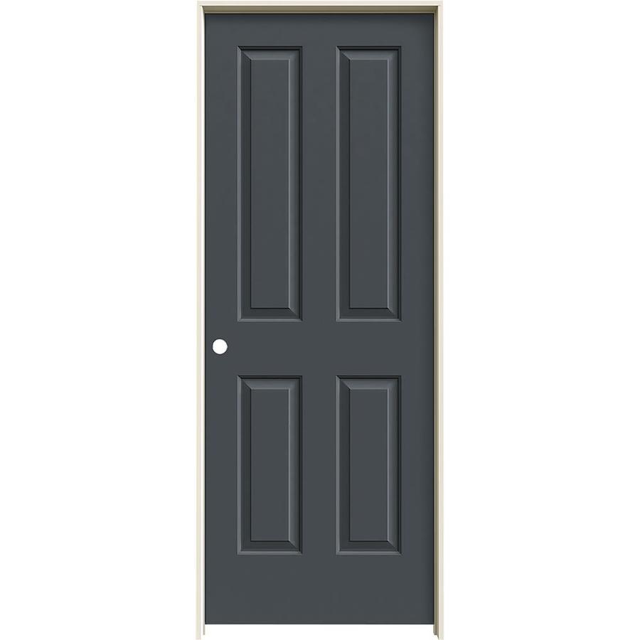 JELD-WEN Slate Prehung Hollow Core 4 Panel Square Interior Door (Common: 28-in x 80-in; Actual: 29.562-in x 81.688-in)
