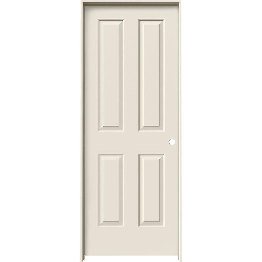JELD-WEN Prehung Hollow Core 4 Panel Square Interior Door (Common: 24-in x 80-in; Actual: 25.562-in x 81.688-in)