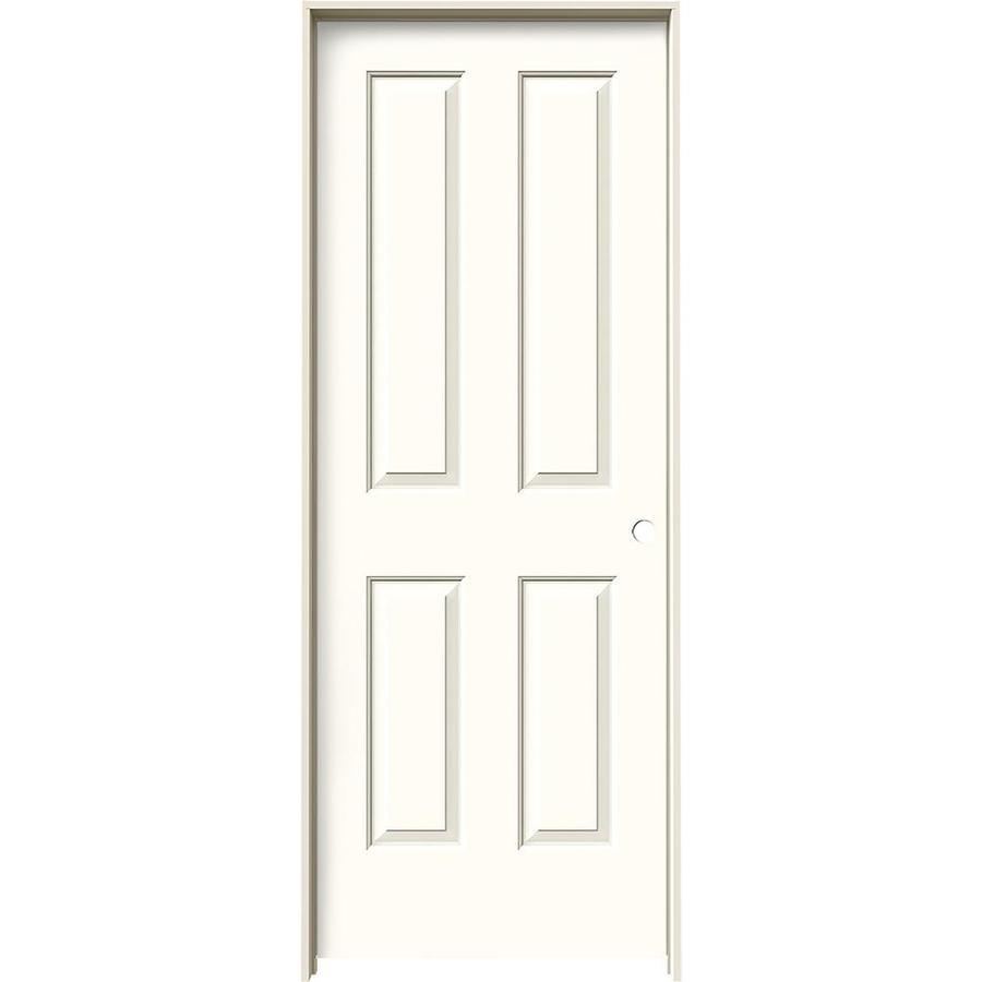 JELD-WEN Moonglow Prehung Solid Core 4 Panel Square Interior Door (Common: 30-in x 80-in; Actual: 31.562-in x 81.688-in)