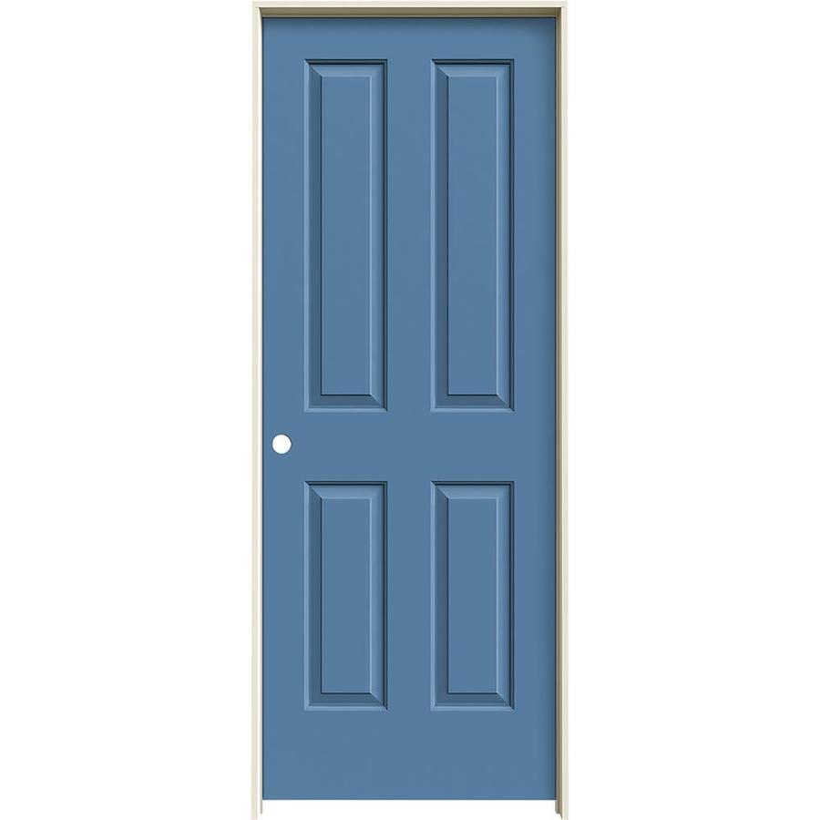 JELD-WEN Blue Heron Prehung Solid Core 4 Panel Square Interior Door (Common: 32-in x 80-in; Actual: 33.562-in x 81.688-in)
