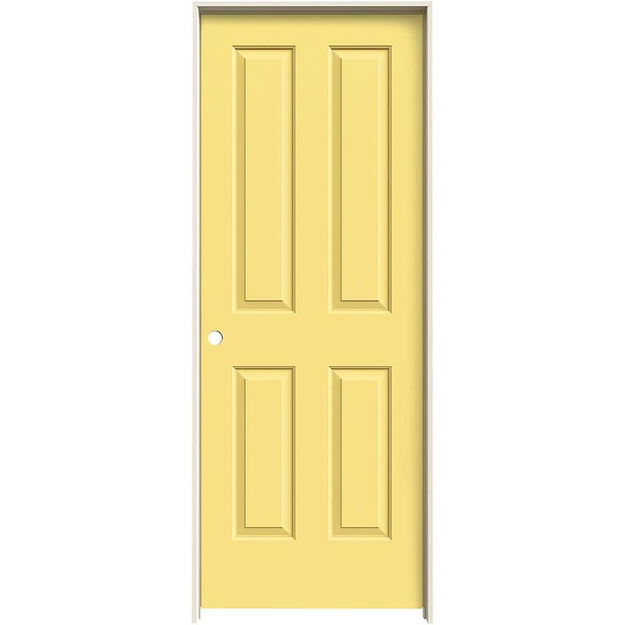 JELD-WEN Marigold Prehung Solid Core 4 Panel Square Interior Door (Common: 24-in x 80-in; Actual: 25.562-in x 81.688-in)