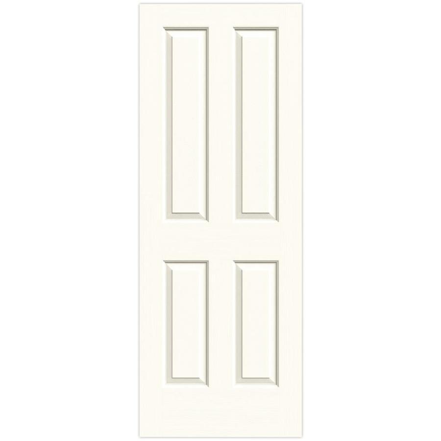JELD-WEN White Solid Core 4 Panel Square Slab Interior Door (Common: 24-in x 80-in; Actual: 24-in x 80-in)